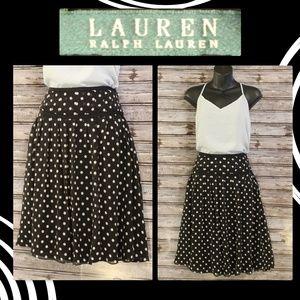 Polka Dot-Knife Pleat Circle Skirt by Lauren RL